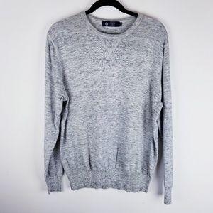 J Crew heathered grey large sweater long sleeve